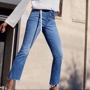 Madewell Cali Demi Boot Jeans, chewed hem edition